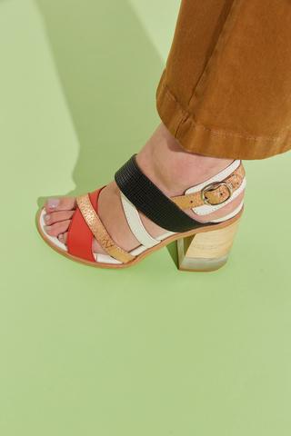sandalias taco medio verano 2022 Calzados Traza