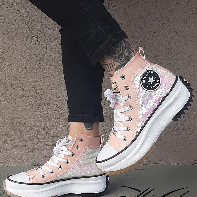 zapatillas botitas rosa verano 2022 Calzado Micaela