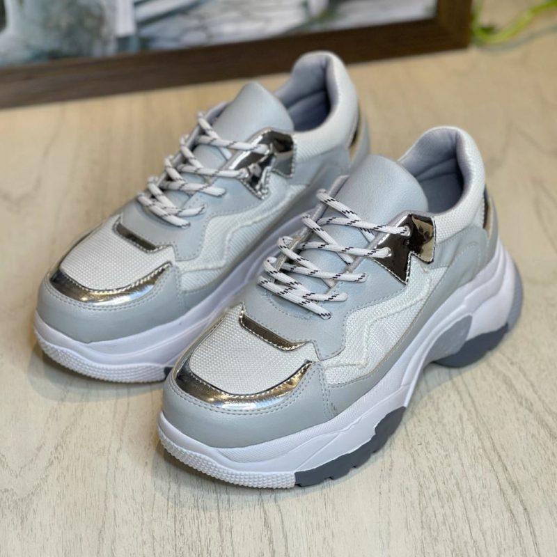 zapatillas grises para mujer verano 2022 calzados Mannarino