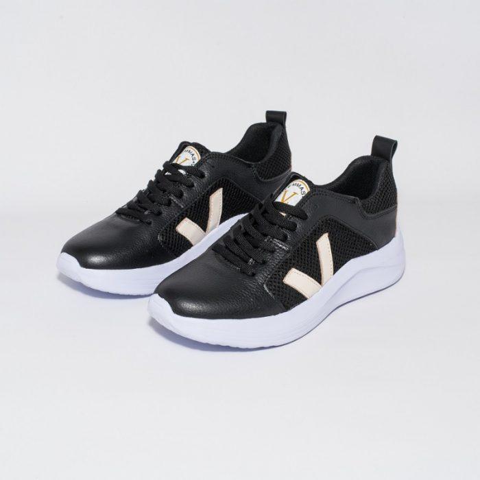 zapatillas negras verano 2022 Vemmas calzados