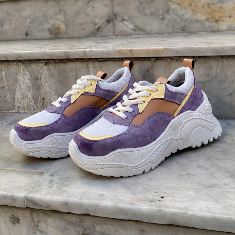 zapatillas violetas para mujer verano 2022 calzados Mannarino