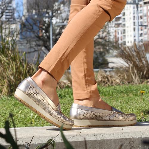 Mocasines dorados verano 2022 Fragola calzados