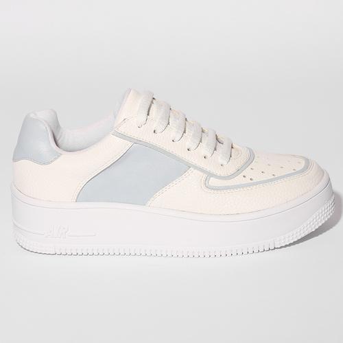 Zapatillas blancas y celestes verano 2022 Fragola calzados