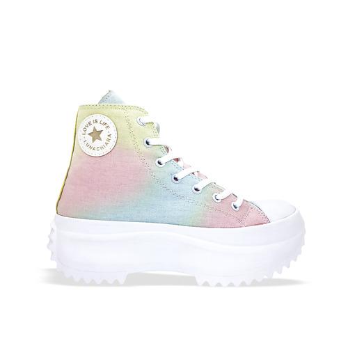 Zapatillas botita arcoiris verano 2022 Luna chiara