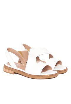 sandalias blancas verano 2022 Via Uno