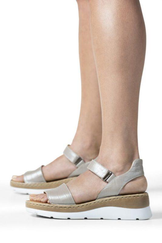 sandalias grises para senora verano 2022 Calzados Cavatini