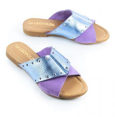 sandalias lila verano 2022 La Leopolda