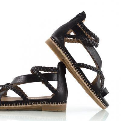 sandalias negras verano 2022 La Leopolda