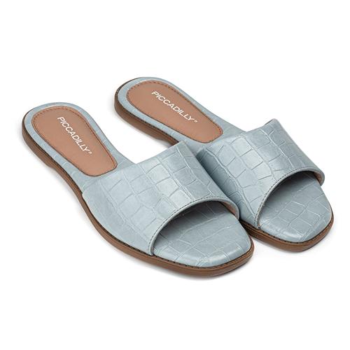 sandalias planas celestes verano 2022 Calzados Piccadilly