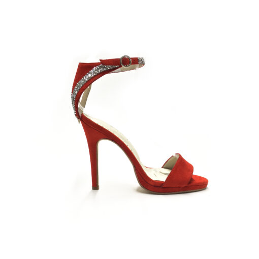 sandalias rojas taco alto primavera verano 2022 Valerio Calzados