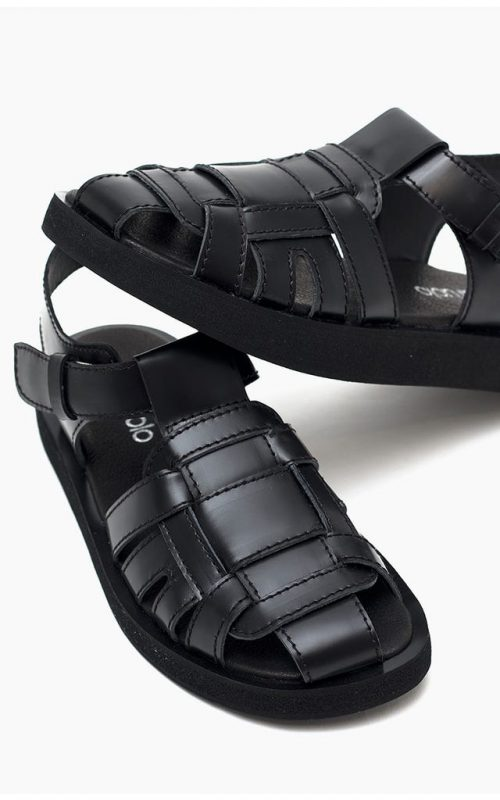sandalias urbanas negras verano 2022 Paruolo