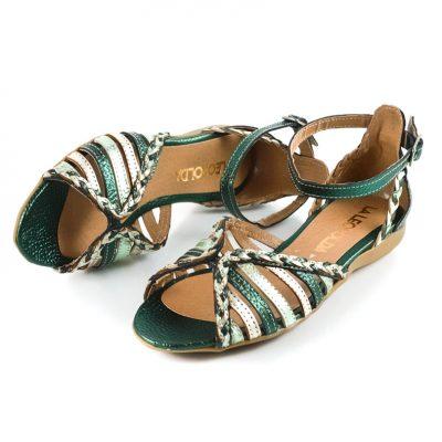 sandalias verdes verano 2022 La Leopolda