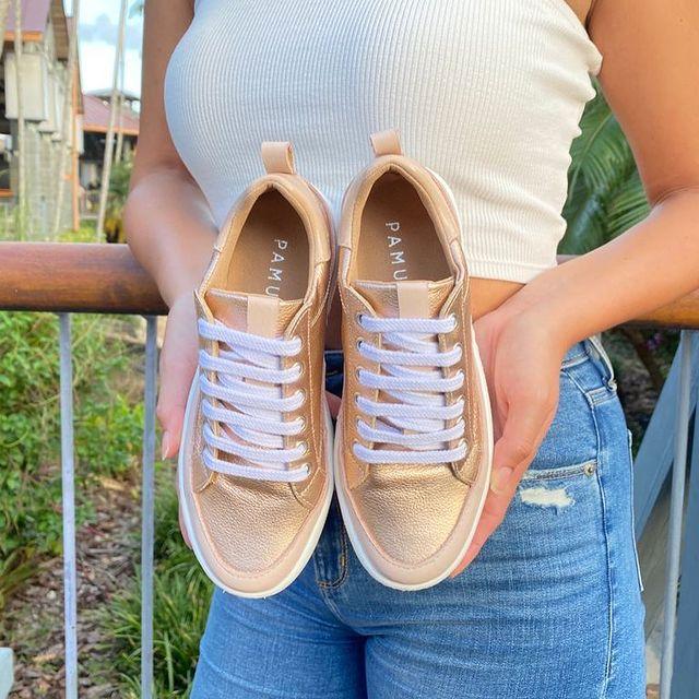 zapatillas doradas verano 2022 Pamuk