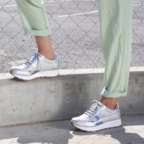 zapatillas plateadas verano 2022 Fragola calzados