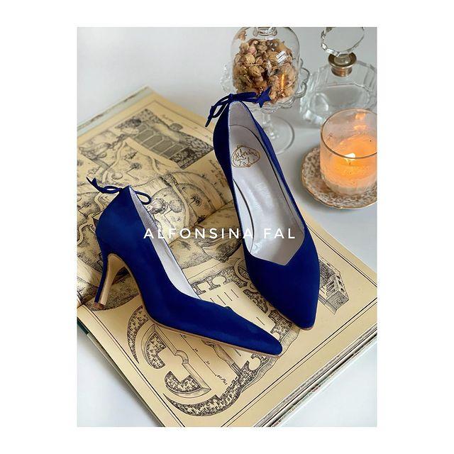 zapatos stilettos azules verano 2022 Alfonsina Fal